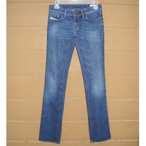 DIESEL Jeans, 25, LIV, Straight, Zipper, 5 pockets